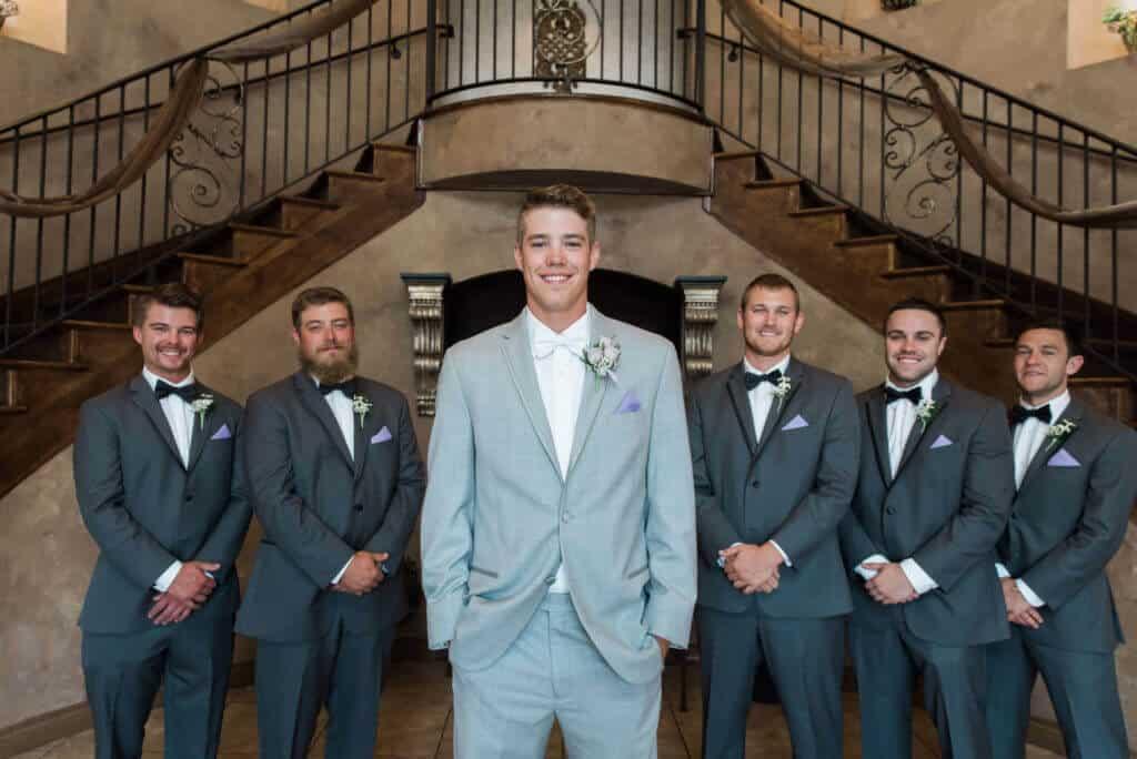 Groomsmen-in-Grey-tuxedos-at-Bella-Sera-1024x684