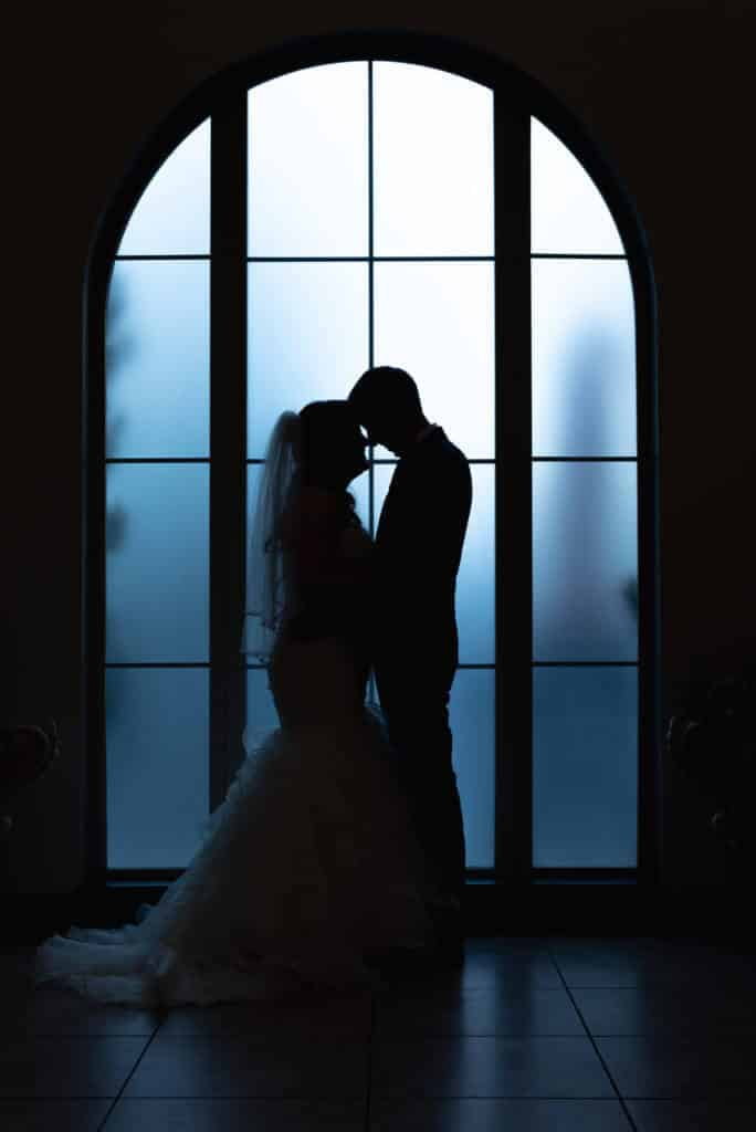 Shot-of-Newlyweds-by-curved-window-at-Bella-Sera_4590-684x1024